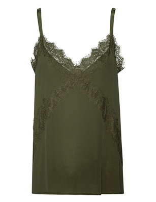 JADICTED Lace Silk Khaki