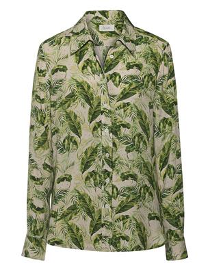 JADICTED Silk Palm Print Green