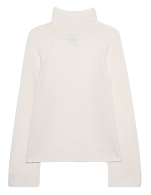 JADICTED Stand Up Collar Cashmere Knit Cream