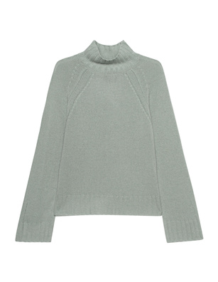 JADICTED Stand Up Collar Cashmere Knit Green