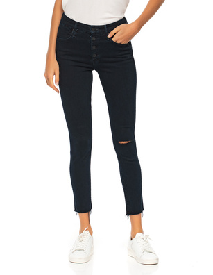MOTHER The Pixie Ankle Fray Dark Blue