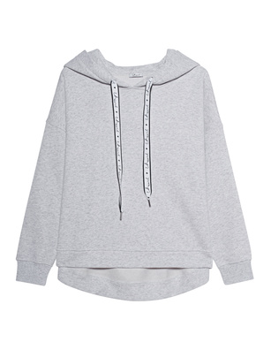 iHEART Hoodie Oversize Grey Melange