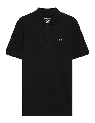 TRUE RELIGION Gold Logo Lurex Black