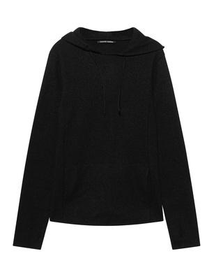 HANNES ROETHER Hood Wool Black