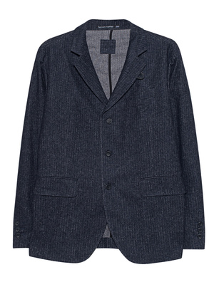 HANNES ROETHER Pinstripe Jacket Navy