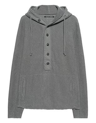 HANNES ROETHER Hood Button Grey