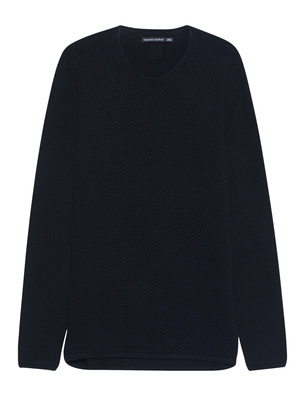HANNES ROETHER Knitted Crew Black