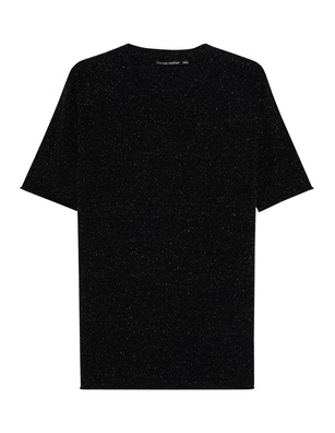 HANNES ROETHER Silk V Neck Black