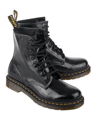 DR. MARTENS QQ Flowers 8 Eye Black