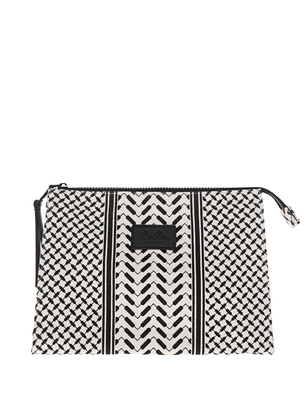 LALA BERLIN Pili Pouch Black White