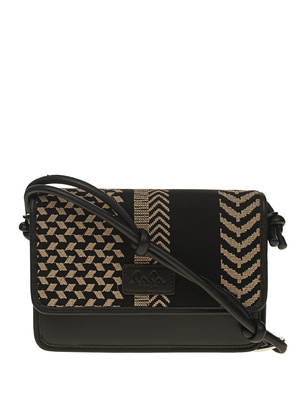 LALA BERLIN Crossbody Atlanta Kufiya Brown Black