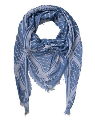LALA BERLIN Cotton Triangle Kufiya Blue