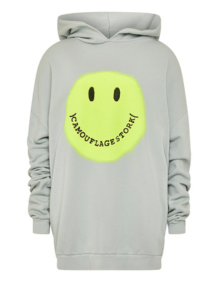CAMOUFLAGE COUTURE STORK Hood Smiley Grey