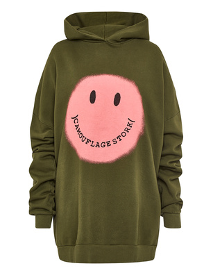 CAMOUFLAGE COUTURE STORK Hood Smiley Military