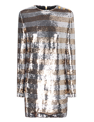 BALMAIN Sequins Silver Gold