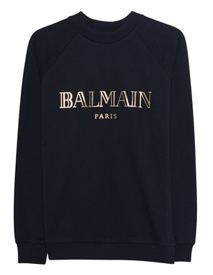 BALMAIN Cotton Logo Front Black