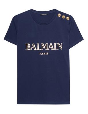 BALMAIN Logo Navy Golden