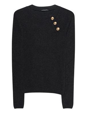 BALMAIN R Neck Buttons Black