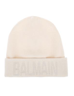 BALMAIN Logo Gliter Off-White