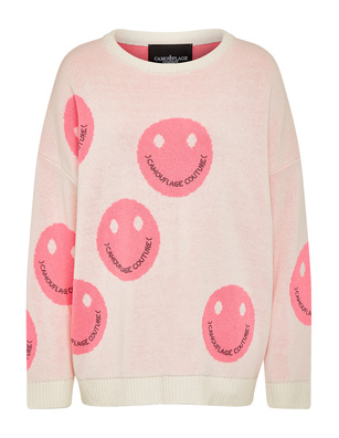 CAMOUFLAGE COUTURE Smiley Allover White Bubble