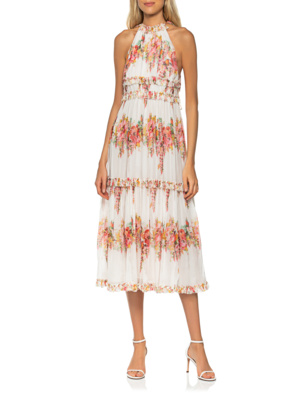 ZIMMERMANN Mae Tiered Frill Long Ivory Floral