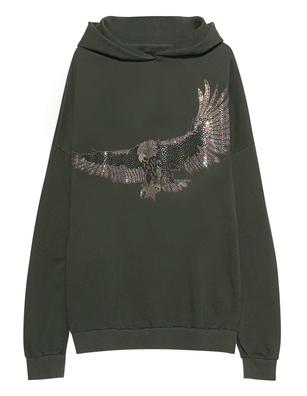 CAMOUFLAGE COUTURE STORK Eagle Rhinestones Green