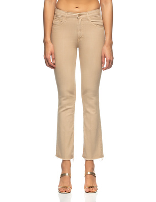 MOTHER The Inside Ankle Fray Beige