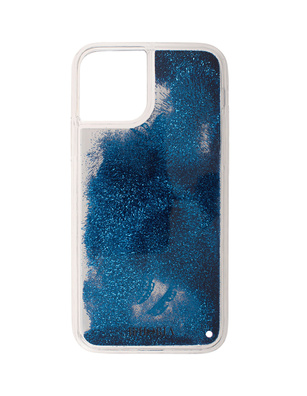 IPHORIA Liquid Case Glitter Leo White Blue