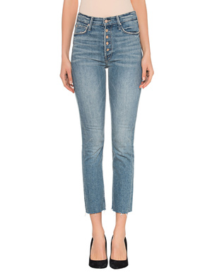 MOTHER Pixie Dazzler Ankle Fray Jean Blue