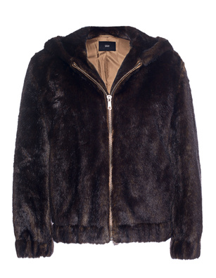 STEFFEN SCHRAUT Bomber Fake Fur Brown