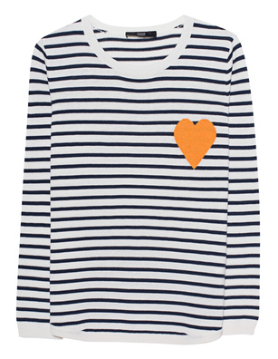STEFFEN SCHRAUT Stripes Heart White Blue