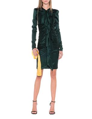 ALEXANDRE VAUTHIER Fine Strech Silk Green