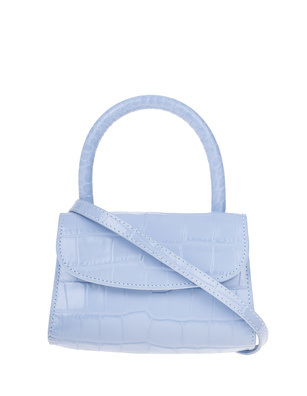BY FAR Mini Croco Embossed Sky Blue