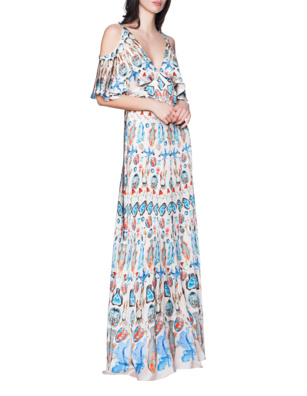 TEMPERLEY LONDON Rising Sleeved Multicolor