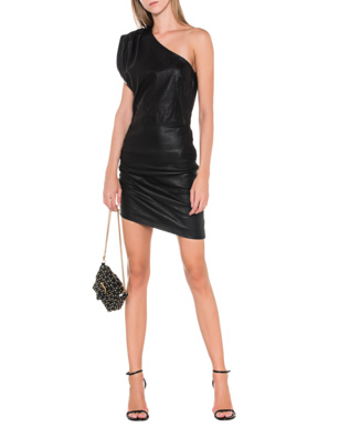 IRO Asymmetrical Leather Black