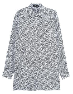 MUF10 Monogram Oversized Shirt White