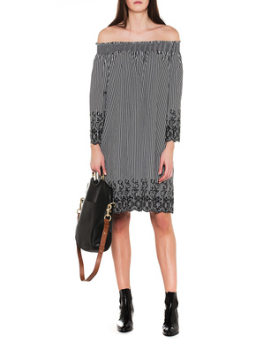 STEFFEN SCHRAUT Off Shoulder Dress Black White