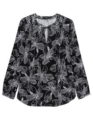 STEFFEN SCHRAUT Flower Black White