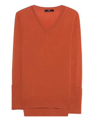 STEFFEN SCHRAUT Knit VNeck Button Orange