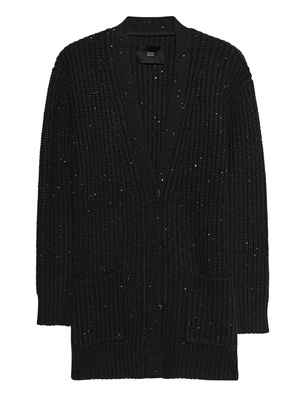 STEFFEN SCHRAUT Knit Jacket Sequins Black