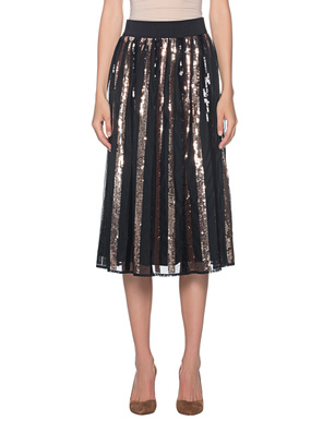 STEFFEN SCHRAUT Sequin Stripes Skirt Black