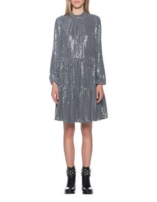 STEFFEN SCHRAUT All-Over Sequin Dress Silver