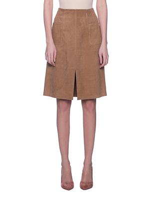 STEFFEN SCHRAUT Leather Skirt Sand Beige