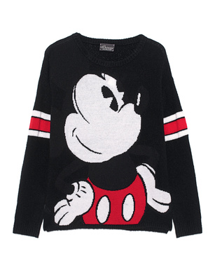 PRINCESS GOES HOLLYWOOD Mickey Intarsia Knit Black