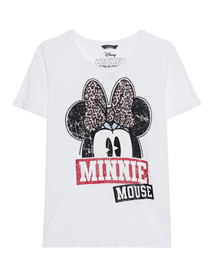 PRINCESS GOES HOLLYWOOD Minnie Bow Print White