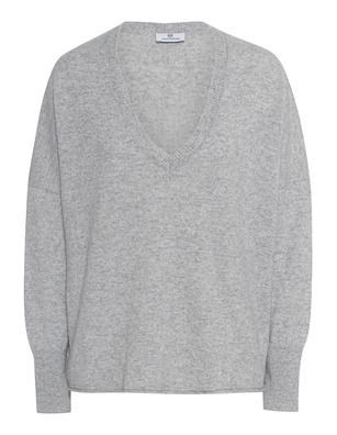 AG Jeans Deep V Neck Oversize Grey