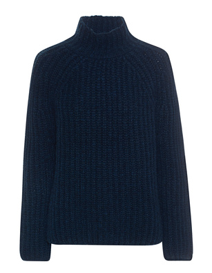 AG Jeans Stand Up Collar Wool Navy