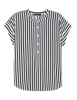 STEFFEN SCHRAUT Stripes Collarless Black White