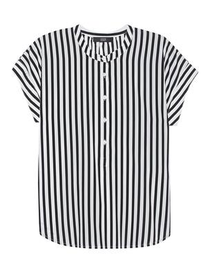 STEFFEN SCHRAUT Stripes Collarless Black White