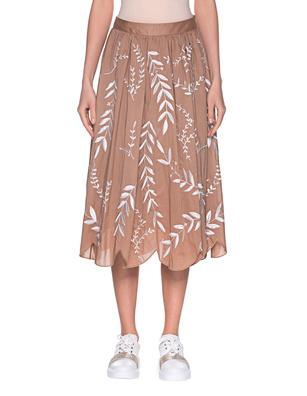 STEFFEN SCHRAUT Embroidery Leaves Brown